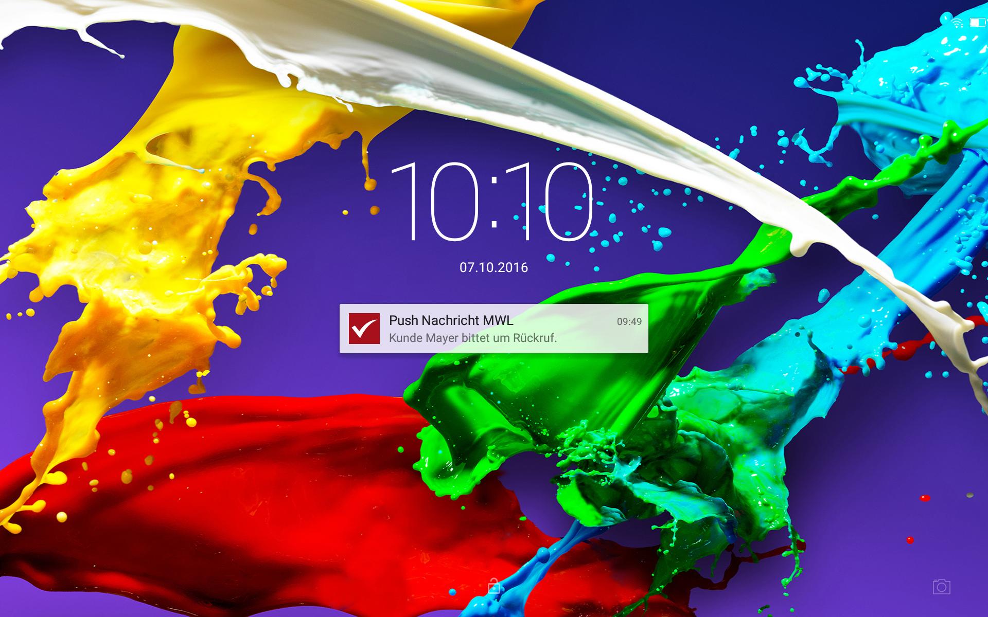 Mit der mesonic WinLine 10.3 können Pushnachrichten an Desktop, Tablet, Smartphone gesendet und empfangen werden.